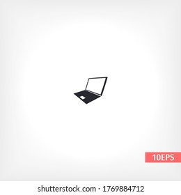Laptop icon in trendy flat style isolated on white background. Computer symbol for your website design, logo, application. Vector иллюстратион laptop , laptop eps 10 laptop .