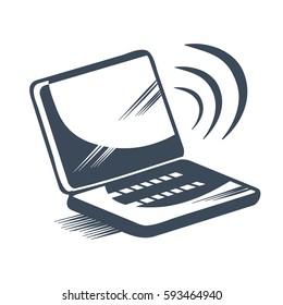laptop icon Vector Eps 10