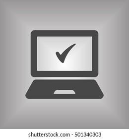 laptop icon,vector. Flat design.