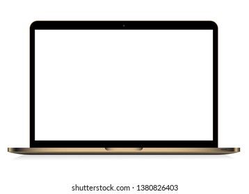 Laptop isolated vector. Gadget illustration vector. Modern computer, laptop, smartphone on a white background vector
