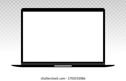 Laptop or notebook computer vector flat icon on a transparent background.