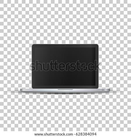 laptop on transparent background template framework stock vector