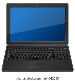 Laptop on a white background. Vector illustration.