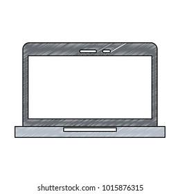 Laptop pc technology icon vector illustration graphic design