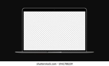 Laptop Realistic Mockup with transparent background. Vector illustration