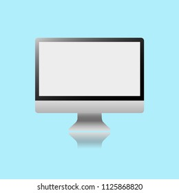 Laptop reflection vector illustration