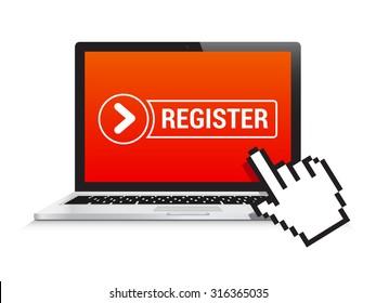 Laptop Register Button