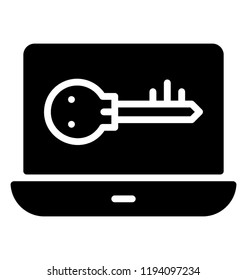 A laptop with scam key deicting unauthorized access to laptop