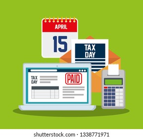 laptop with service tax report and dataphone