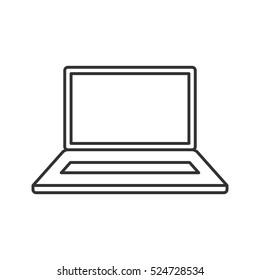 Laptop thin line icon