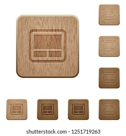 Laptop touchpad on rounded square carved wooden button styles