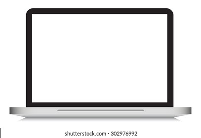 Laptop vector graphic with blank screen, high quality, crisp, modern, vector illustration