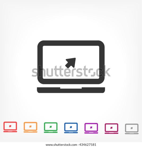 Laptop Vector icon 10 EPS