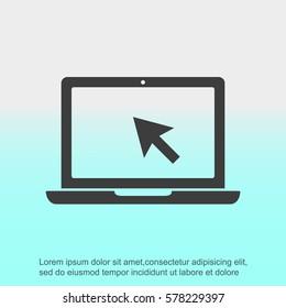 Laptop vector icon