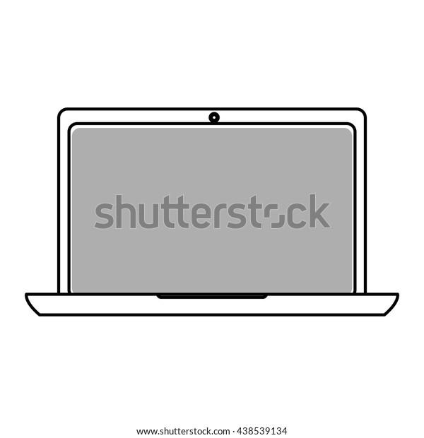 laptop , Vector illustration