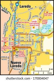 Map Of Texas Showing Laredo.Laredo Texas Stock Vectors Images Vector Art Shutterstock