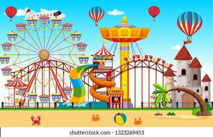 large carnival landscape scene