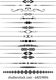Large collection of decorative page dividers