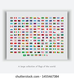 A large collection of flags of the world.