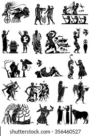 Large collection of Greek songs on a white background.