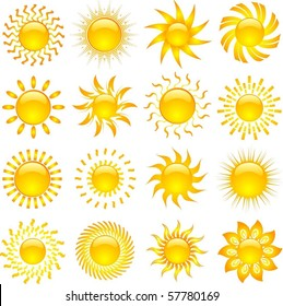 Large collection of sun designs