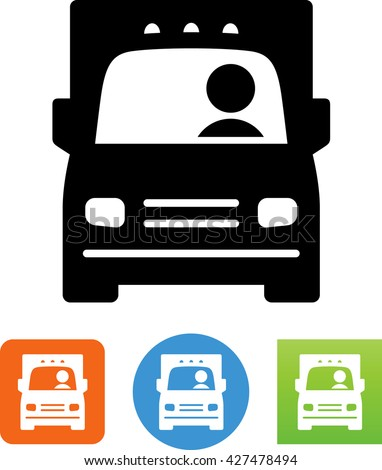 e8b475270edc37 Large Commercial Truck Moving Van Driver Stock Vector (Royalty Free ...