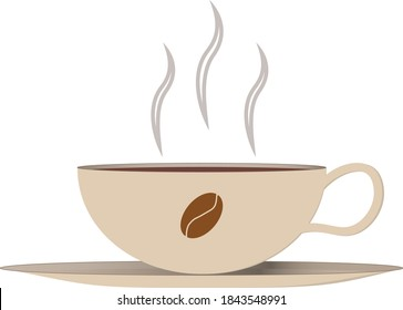 Large cup of creamy coffee