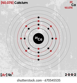Large and detailed infographic of the element of Calcium