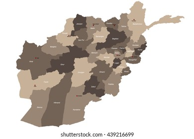 Large and detailed map of Afghanistan