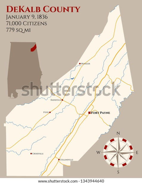 Large Detailed Map Dekalb County Alabama Stock Vector ... on echols county map, gwinnett county map, bolingbrook county map, cook county map, dooly county map, orange county county map, letcher county map, atlanta map, riley county ks map, dekalb al, burbank county map, lanier county map, chariton county map, daviess county map, cobb county map, long county map, piatt county map, fulton county map, nodaway county map, georgia map,