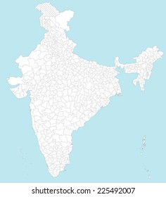 Large Detailed Map India All Subdivisions Stock Vector HD Royalty