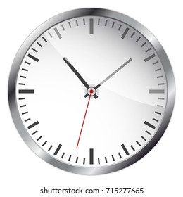 Large and detailed vector of a clock on white background