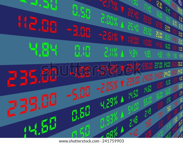 Large Display Daily Stock Market Price Stock Vector (Royalty Free