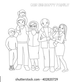 55 Coloring Pages Big Family Download Free Images