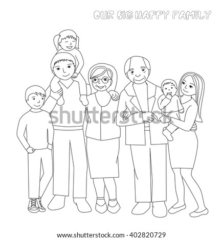 Coloring Pages Of Nuclear Family Best 28 Collection