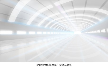 Large floor space. Vector illustration.