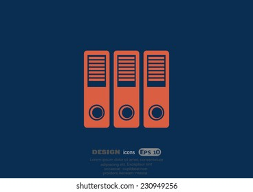 large folders with documents, web icon. vector design