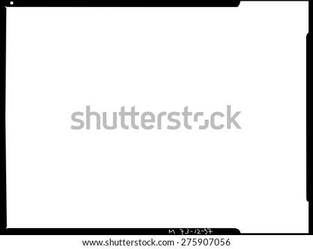 Large Format Film Sheet Negative 4 Stock Vector Royalty Free