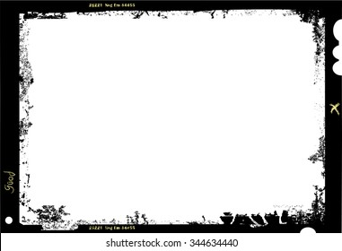 large format film sheet photo frame,with free copy space,vector illustration,fictional artwork