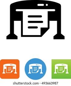 Large Format Printer Icon