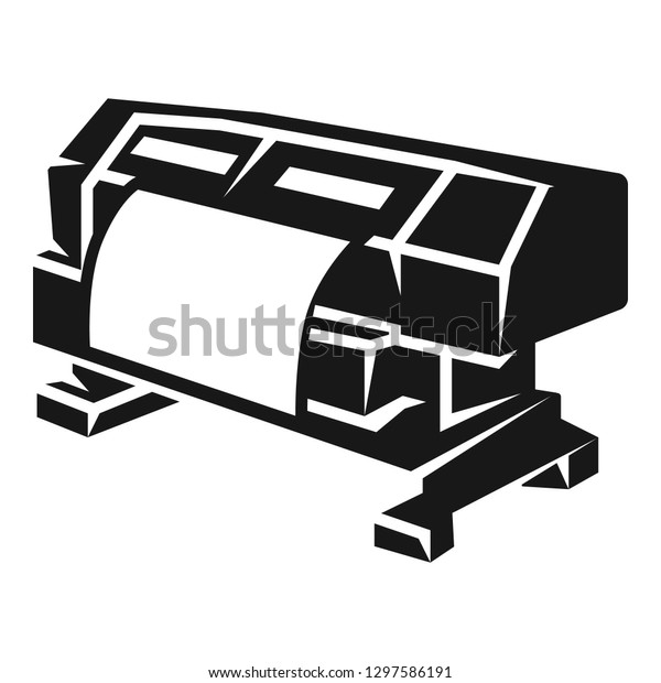 large format printer icon simple illustration stock vector royalty free 1297586191 https www shutterstock com image vector large format printer icon simple illustration 1297586191