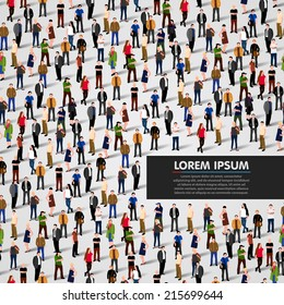A large group of people. vector background