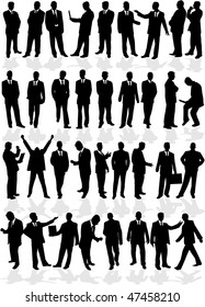 large group of smart men - business people