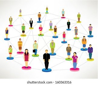 a large group of social networking people vector icon design