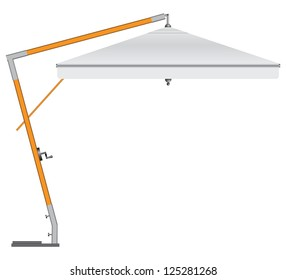 Large industrial umbrella for commercial and household use. Vector illustration.