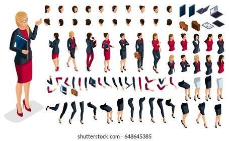 Large Isometric Set Of Hand And Foot Gestures Of A Woman, To Create A 3D