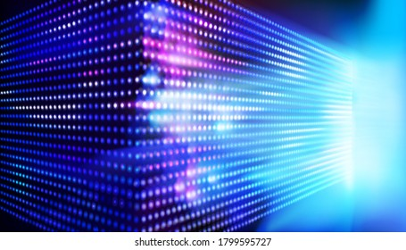 Large led projection screens. Colorful abstract background. Light show on the stage. Vector illustration.