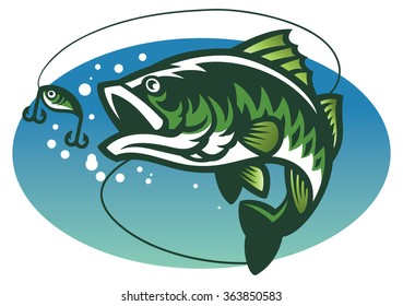 large mouth bass fish mascot