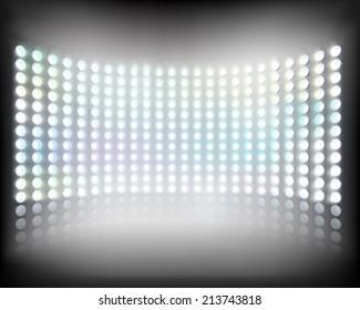 Large multimedia screen. Vector illustration.