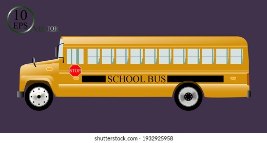 A large realistic school bus